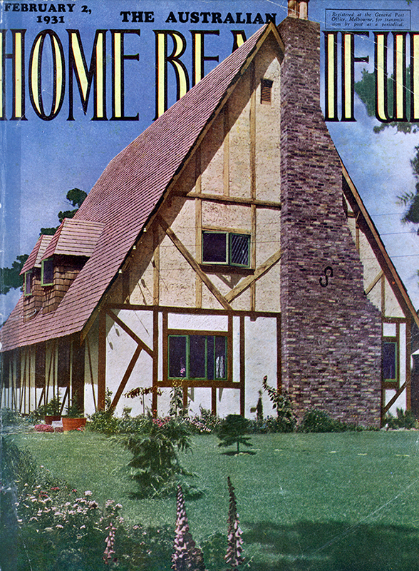Cover of Home Beautiful, 2 February 1931, featuring Esmé's house
