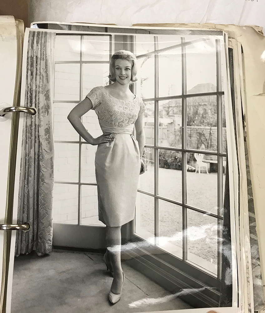 ...and a promotional photo from the Paynters' collection depicting the same dress, around 1959.