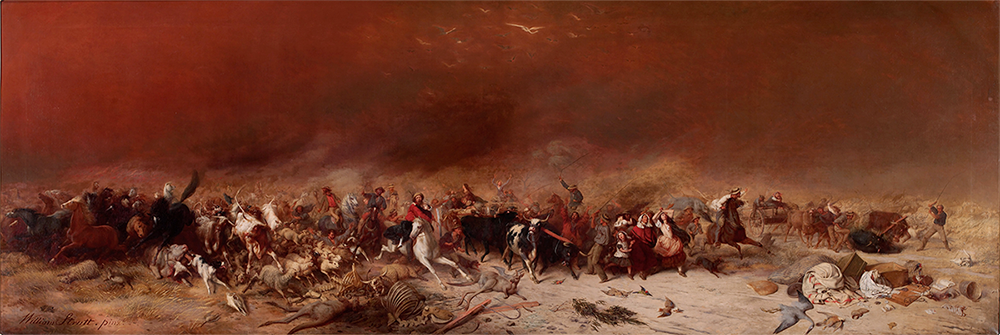"William Strutt, ""Black Thursday, February 6th. 1851"", oil on canvas, 1864. State Library Victoria."